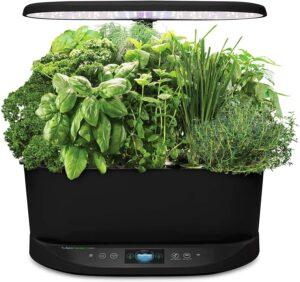 AeroGarden Bounty Indoor Hydroponic Herb Garden - Black (Alexa Enabled)