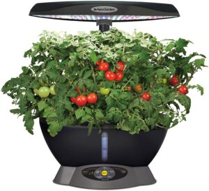 AeroGarden Classic 6 with Gourmet Herb Seed Pod Kit,grows 5 times faster than soil