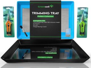 GreenSadi Trimming Tray with Trimming Scissors