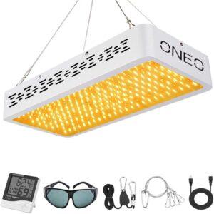ONEO LED Grow Light 1200W Full Spectrum Sunlight