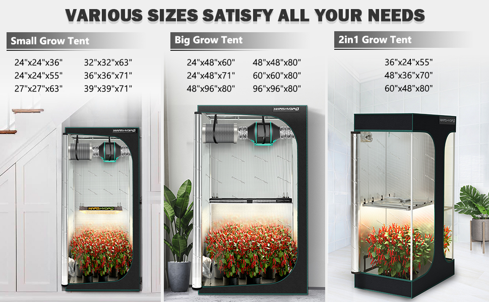 How to choose the right size Grow Tents for your Plants