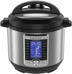 1.Instant Pot Ultra Electric Pressure Cooker, 6 Quart 10-in-1, Stainless Steel