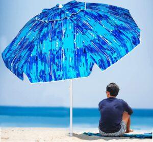 AMMSUN 6.5 ft Portable Outdoor Picnic Beach Umbrella