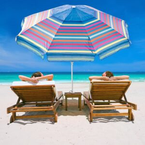 Abba Patio 7 Ft Adjustable Beach Umbrella with Sand Anchor