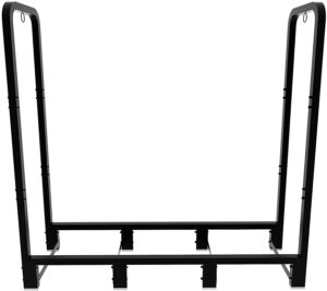 Artibear 4ft Outdoor Firewood Rack, Upgraded Adjustable Heavy Duty Logs Stand Stacker Holder for Fireplace