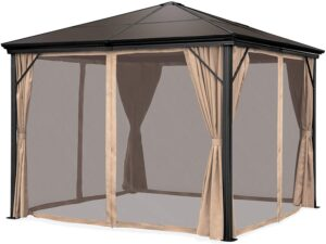 Best Choice Products 10x10-foot Outdoor Aluminum Frame Hardtop Gazebo Canopy for Backyard