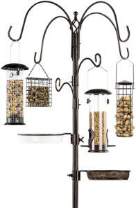 Best Choice Products 6-Hook Bird Feeding Station, Steel Multi-Feeder Kit Stand