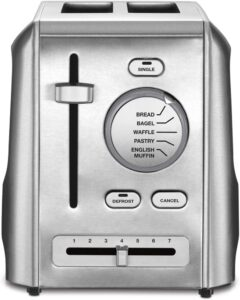 Cuisinart CPT-620C 2-Slice Metal Toaster, Stainless Steel, Silver