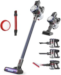 Dibea Upgraded 24KPa Powerful Suction Cordless Stick Vacuum Cleaner