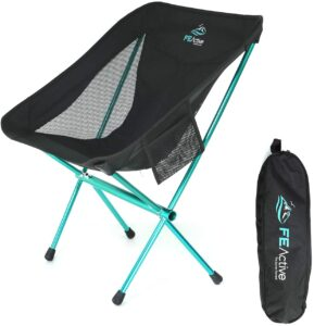 FE Active Folding Campaign Chair - Compact Lightweight and Fildake Outdoor Chair