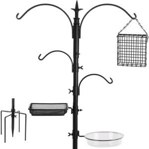 FEED GARDEN Premium Bird Feeding Station Kit, 91 Inch Bird Feeder Pole,
