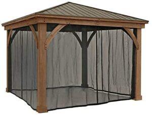 Gazebo Mosquito Mesh Kit for 12x14 Wood Gaze