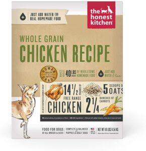 Honest Kitchen Human Grade Dehydrated Organic Grain Chicken Dog Food Box