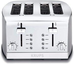 KRUPS KH734D Breakfast Set 4-Slice Toaster