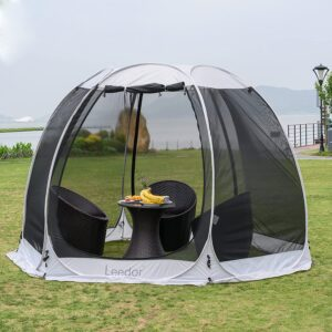Leedor Gazebos for Patios Screen House Room 4-6 Person Canopy Mosquito Net Camping Tent