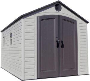 Lifetime 60075 8 x 15 ft. Outdoor Storage Shed, Desert Shed: