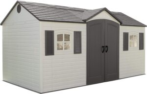 Lifetime 6446 8 by 15-Foot Outdoor Storage Shed with Shutters, Windows, and Skylight: