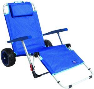 MacSports 2-in-1 Outdoor Beach Cart + Folding Lounge Chair: