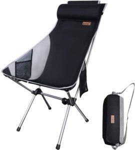 NiceC Ultralight High Back Folding Camping Chair