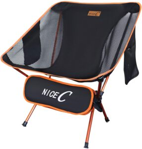 NiceC Ultralight Portable Folding Camping Backpacking Chair: