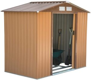 Outsunny 7' x 4' x 6' Garden Storage Shed Outdoor Patio Yard Metal Tool Storage House