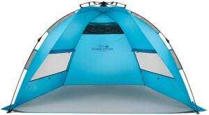 Pacific Breeze Easy Up Sun Shelter Beach Tent