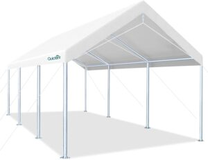 Quictent 10' x 20' Carport Upgraded Heavy Duty Car Galvanized Car Boat Shelter: