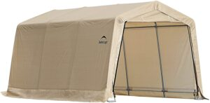 ShelterLogic 10' x 15' x 8' All-Steel Metal Frame Peak Style Roof Instant Garage and Autoshelter: