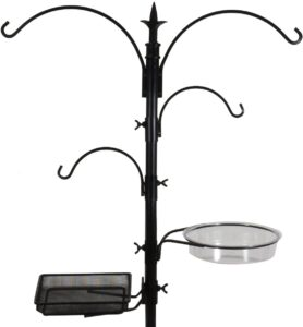 Sorbus Bird Feeding Bath Station, Metal Deck Pole for Bird Feeders