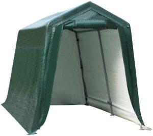 Tangkula Outdoor Carport Patio Storage Shelter, Heavy Duty Enclosed Carport Shed: