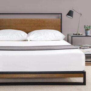 Zinus Ironline Metal & Wood Platform Bed Frame