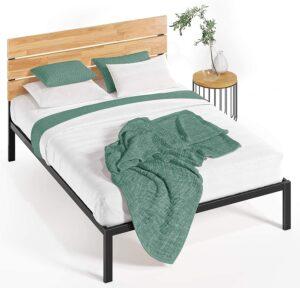 Zinus Sonoma Metal And Wood Platform Bed Frame