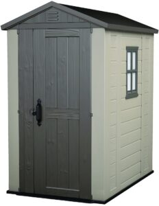 eter Factor Large 4 x 6 ft. Resin Outdoor Backyard Garden Storage Shed